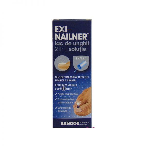 EXI-NAILNER lac de unghii 2 in 1 x 5 ml solutie
