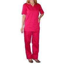 Bluza costum medical unisex culoare roz