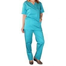 Bluza costum medical unisex culoare turquoise