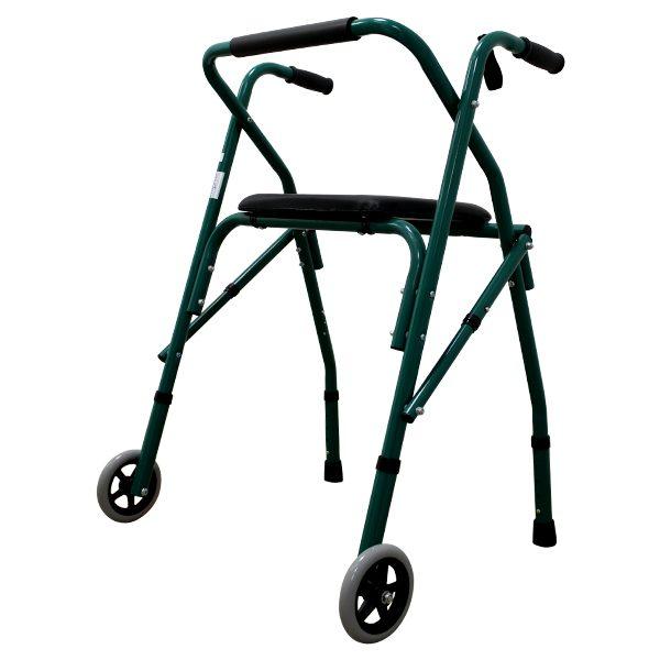 Cadru aluminiu, cu roti frontale si suport pentru sedere
