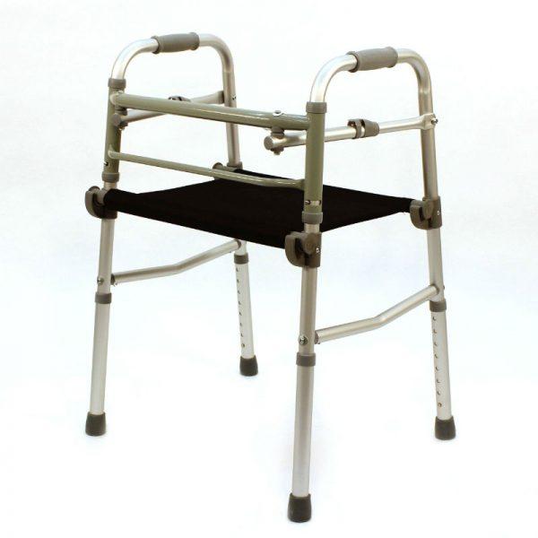 Cadru ortopedic de mers cu suport pentru sedere