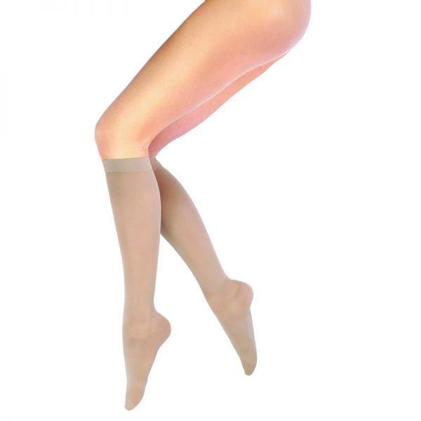 Ciorapi medicinali compresivi cu varf inchis pana la genunchi 15-21 mmHG