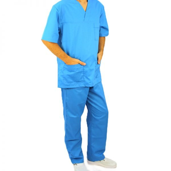 Costum medical albastru unisex