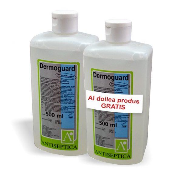 Lotiune antimicrobiana profesionala pentru spalarea corpului Dermoguard 500 ml 1+1 Cadou