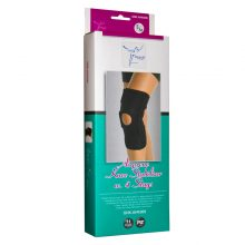 Orteza de genunchi cu insertie de silicon si decupaj pe rotula