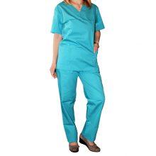 Pantaloni costum medical unisex culoare turquoise