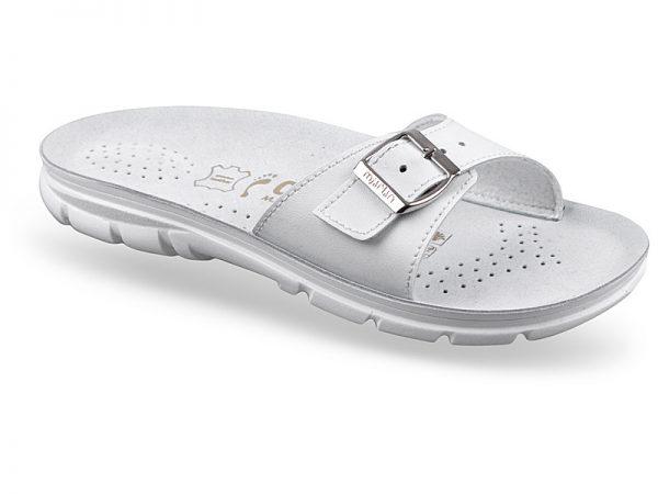Papuci ortopedici cu branturi anatomice din piele perforate