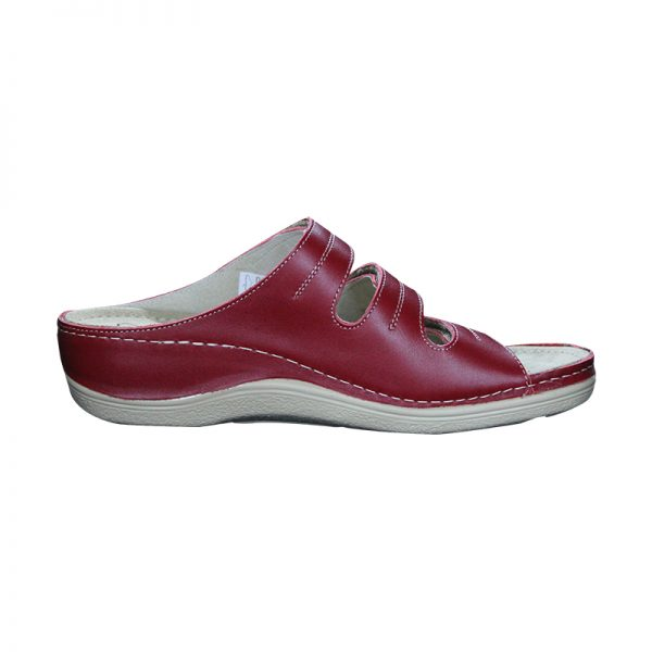 Papuci ortopedici profesionali din piele, cu trei barete reglabile Pedy