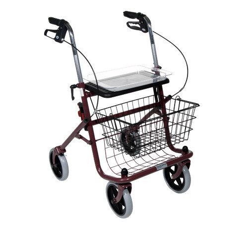 Rolator ortopedic cu 4 roti, cos, scaun si tavita