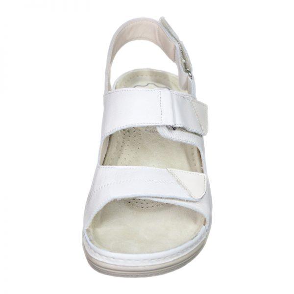 Sandale ortopedice din piele naturala, cu trei barete reglabile Pedy