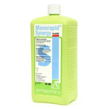 Solutie profesionala pentru dezinfectia chirurgicala a mainilor Manorapid Synergy 1L