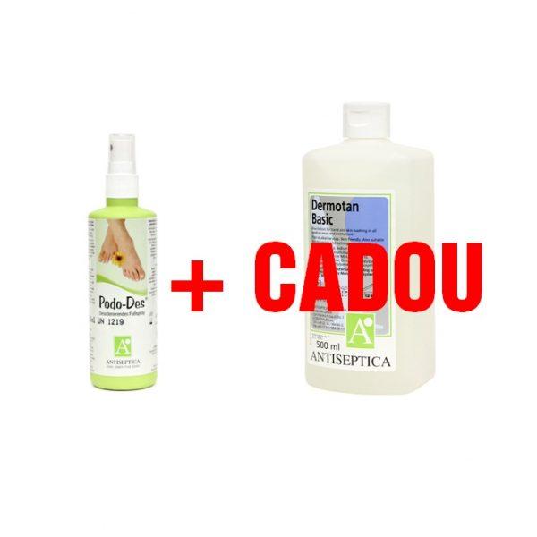 Spray deodorant pentru picioare + cadou sapun pentru tratare si spalare