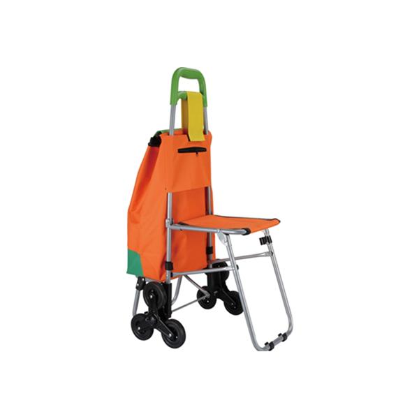 Carucior de cumparaturi cu scaun si roti in stea