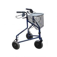 Rolator ortopedic cu trei roti si cos pentru cumparaturi