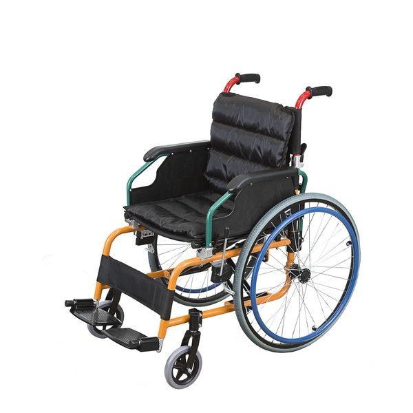 Scaun cu rotile pediatric din aluminiu
