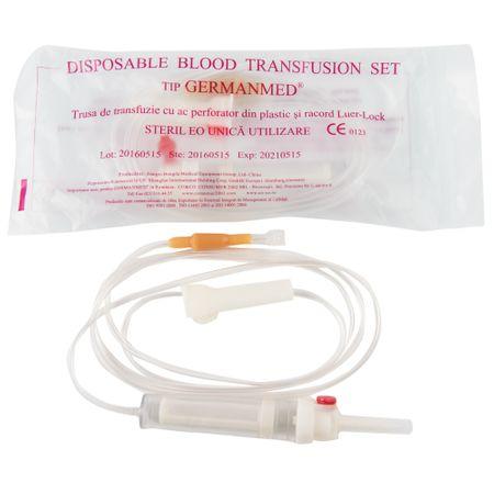 Trusa de transfuzie cu ac plastic