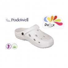 Saboti medicali termoformabili unisex PodoWell Duflex albi