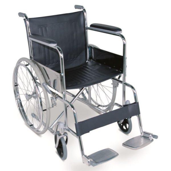 Scaun rulant cu frana manuala catena pas cu pas