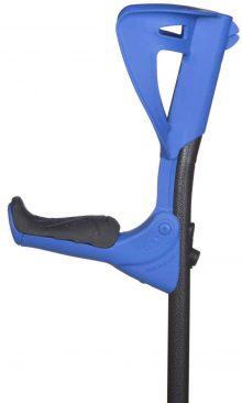 Carja cu sprijin pe antebrat din aluminiu ErgoTech (albastra)