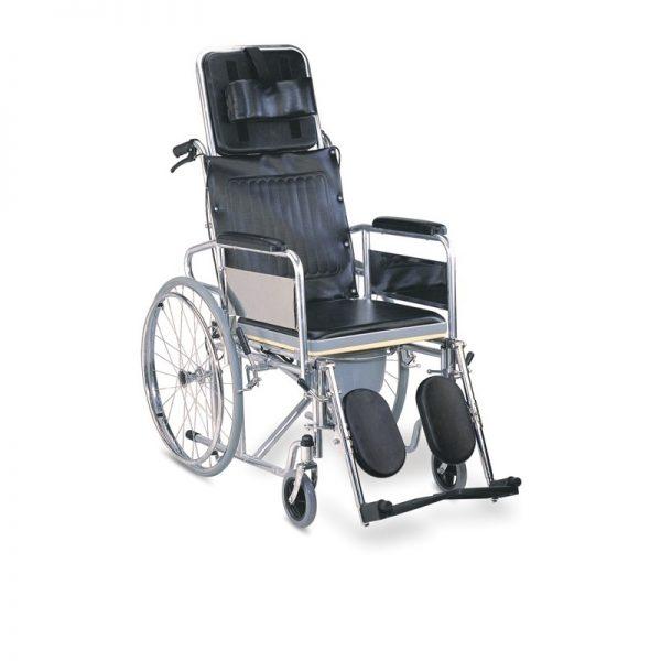 Scaun cu rotile cu structura din otel si spatar reglabil