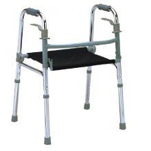 Cadru de mers pliabil cu suport pentru sedere
