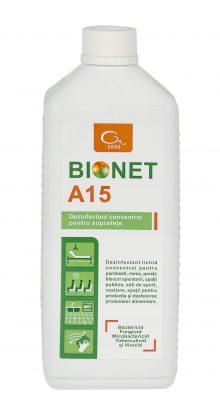 Dezinfectant general pentru suprafete Bionet A15, 1 litru