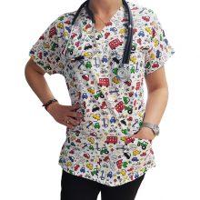 Bluza costum medical cu desen