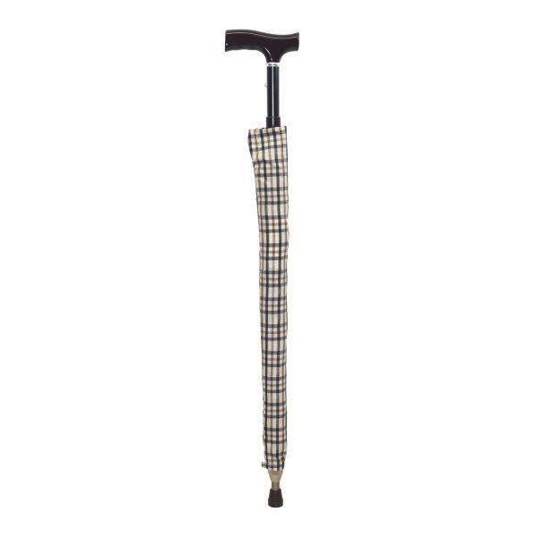 Baston tip umbrela 2 in 1 - bej