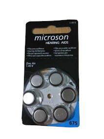 BAT675-PLUS Baterii zinc aer Microson 6 buc.