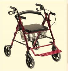 Rolator ortopedic cu 4 roti si scaunel
