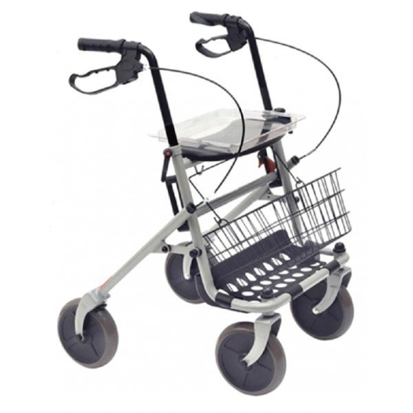 Rolator ortopedic cu scaun, cosulet si tavita