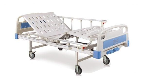 Pat de spital manual cu 2 functii
