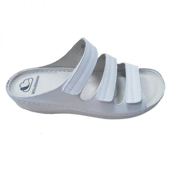 Sandale ortopedice pentru femei - culoare alb