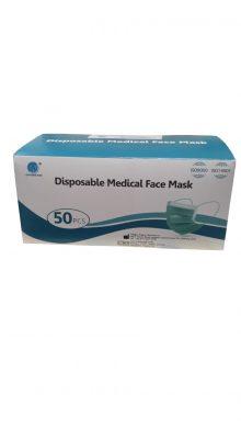 Masca de protectie certificata, in 3 straturi, 50 masti in cutie