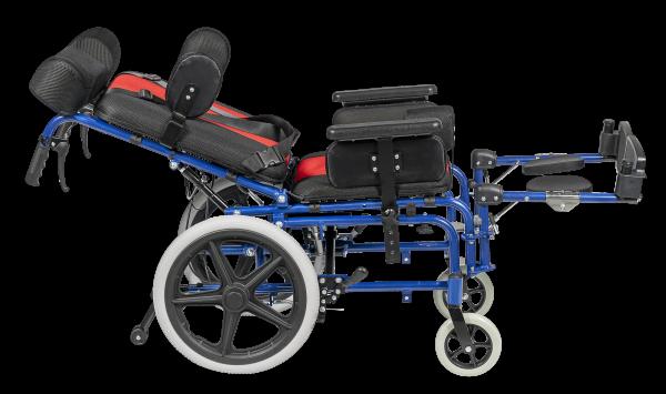 Fotoliu rulant complex rabatabil pentru copii cu tetraplegie