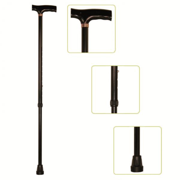 Baston ortopedic reglabil din aluminiu de culoare neagra