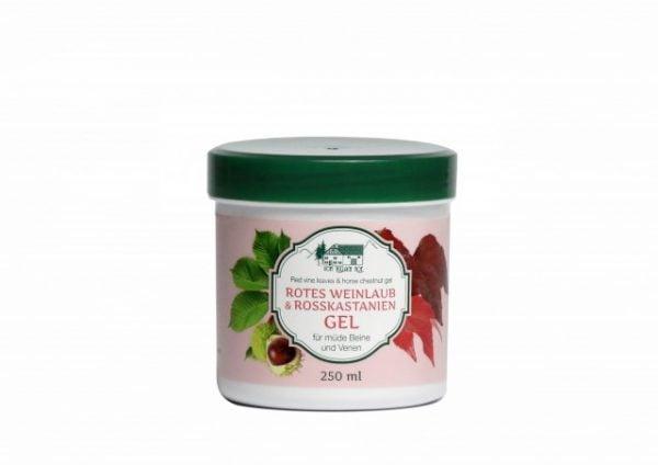 Gel cu frunza de Vita de vie rosie - castane salbatice x 250 ml