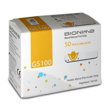 Set Teste glicemie Bionime Rig GS100 (2*50 buc.) + Glucometru Bionime GM 100 Cadou