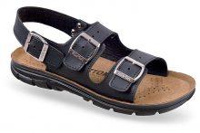 Sandale ortopedice cu trei barete, negre, pentru femei