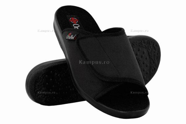 Papuci ortopedici barbati, pentru interior, negru