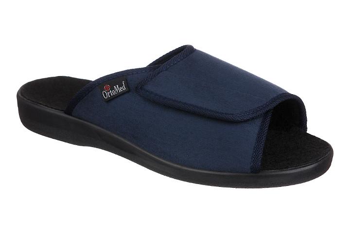 Papuci ortopedici femei, pentru interior, bleumarin