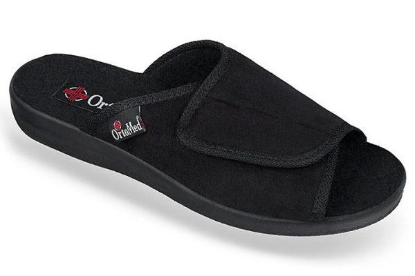 Papuci ortopedici femei, pentru interior, negru