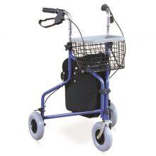 Rolator ortopedic cu 3 roti si cos de cumparaturi