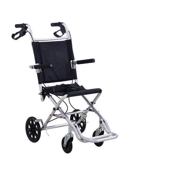 Scaun cu rotile pliabil, din alumniu