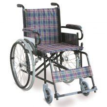 Scaun cu rotile pliabil, din otel