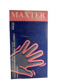 Manusi Maxter Blue Nitril  L x 100 buc/cutie