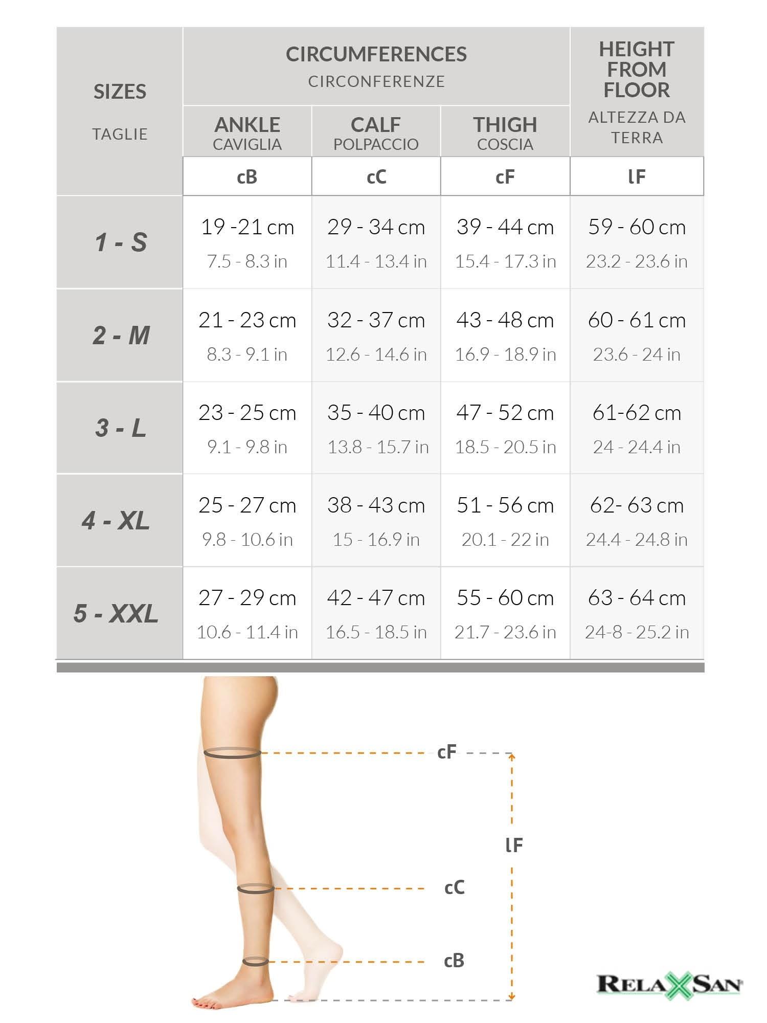 Ciorapi de compresie pana la coapsa, 23-32 mmHg