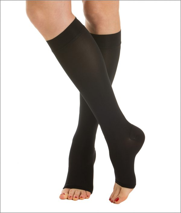 Ciorapi de compresie pana la genunchi, fara varf, 15-21 mmHg