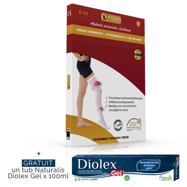 Ciorapi antiembolism cu varf deschis VARILEGS