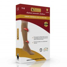 Ciorapi compresivi medicali pana la genunchi VARILEGS (18-22 MmHg), bej